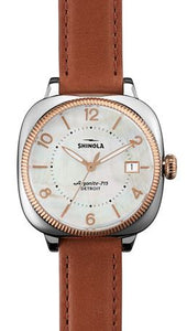 GOMELSKY 36MM WH MOP DIAL ORCHID STRAP