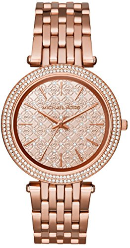 LDS ROSE DIAL W CRY / CRY BEZEL ROSE BRACELET