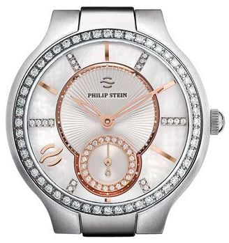 SM ROUND DIA CASE MOP DIAL W ROSE ACCENTS