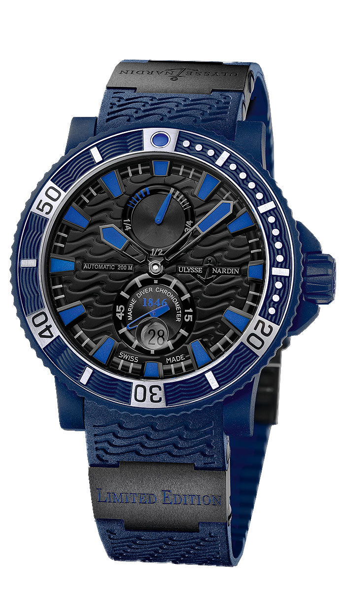 MAXI DIVER BLUE SEA LIMITED ED OF 999 SW 45.8MM WR 200M BLK DIAL RUBBER/CERAMIC STRAP