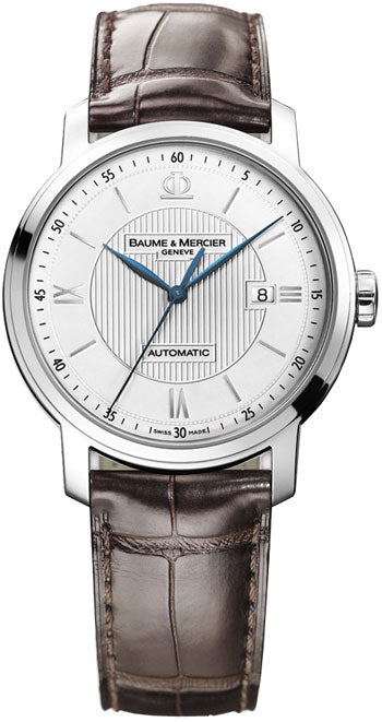 CLASSIMA EX STEEL LEATHER AUTO XL SIL GUILLOCHE DRK BRWN STR