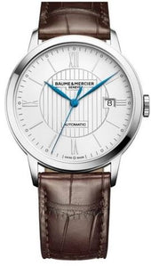 CLASSIMA  AUTO SILVER DIAL DARK BROWN ALLIGATOR STRAP