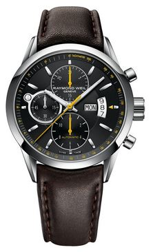 GTS FREELANCER CHRONO BLK DIAL/BROWN STRAP