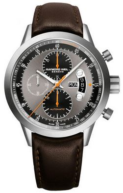 GTS FREELANCER BLK/GREY DIAL BROWN STRAP