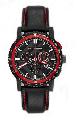BLK & RED DIAL/BEZEL BLK & RED STRAP