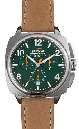 BRAKE CHRONO CONTRAST 40MM GREEN DIAL 20MM NATURAL STRAP
