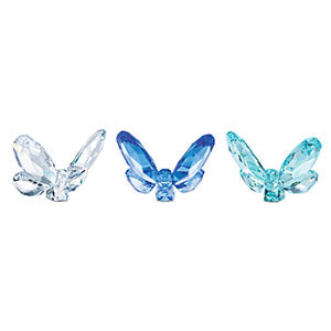BUTTERFLIES SM SET OF 3 BLUE