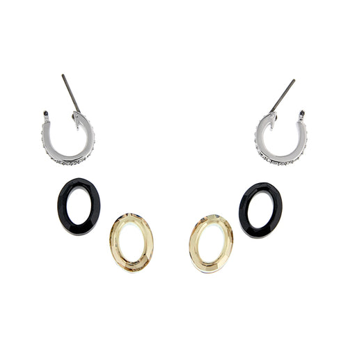 LOGAN PE BLK & YELLOW OVL HOOPS
