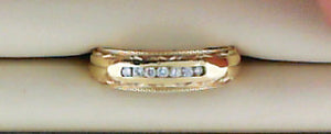 DIA .14CT TW 7RD WED BAND