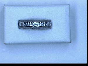 18KT WG .98CT TW DIAMOND BAND