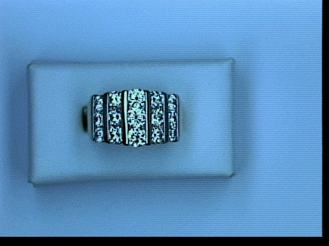 18KT PLT 3.00CT TW DIAMOND 3ROW BAND
