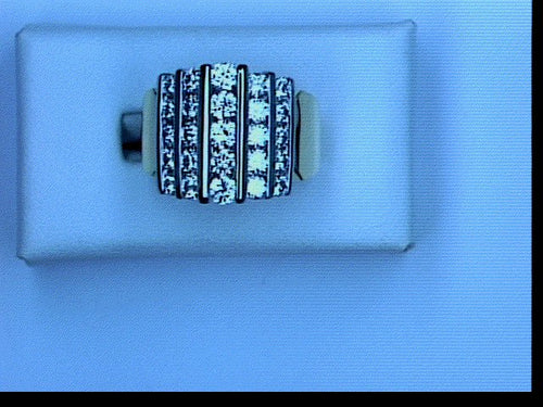 18KT PLT 2.25CT TW DIAMOND 5 ROW BAND