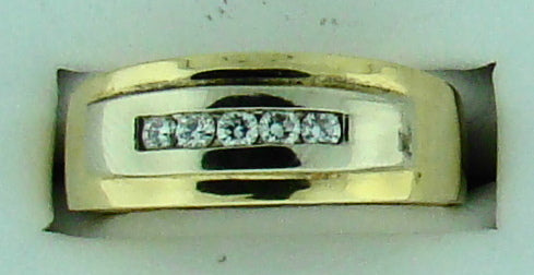 GTS 14KT YG .25CT TW DIAMOND RING A QUALITY