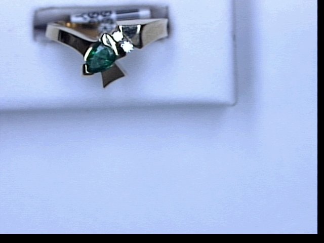 EMERALD DIA .07CT TW RING