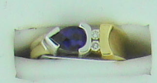 AMETHYST DIA RING .75CT-.07TW