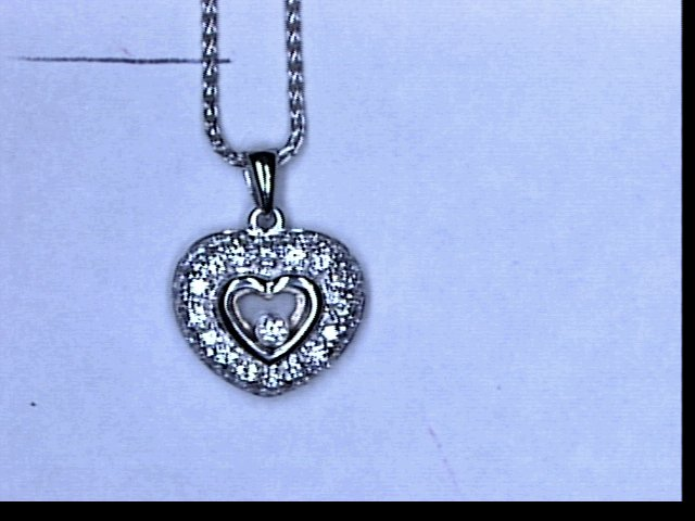 18KT WG .48CTW DIA FLOATING HEART PENDANT NECKLACE
