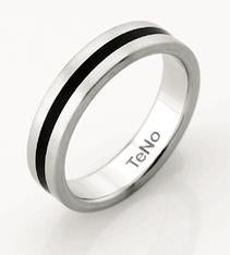 ADIT 4.5MM BLACK CERAMIC ALL THE WAY AROUND RING