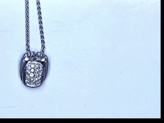 18KT WG DIA PAVE NECKLACE