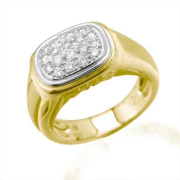 18KT GOLD WG PAVE DIAMOND RING