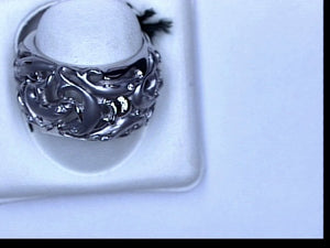 18KT WG RING W DIAMOND DELFINES
