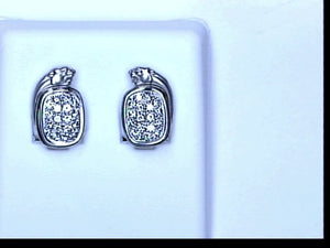 18KT WG PAVE DIA PANTHER EARRINGS