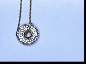 18KT YG 1.15CT TW DIAMOND LOVE SAVER NECKLACE