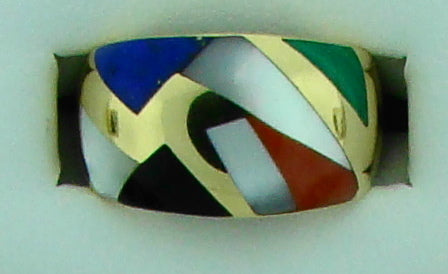 14KT MULTI COLOR RING