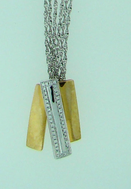 18KT WG RG .17CT TW DIAMOND NECKLACE