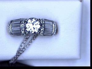 18KT PLAT 1.62CT DIA ENDLESS KISS SEMI MTG