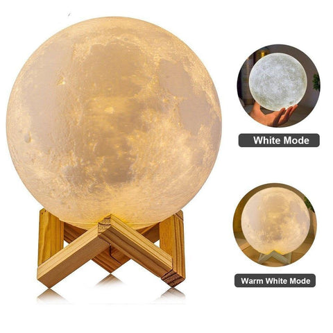 3D Print Moon Lamp Light Touch