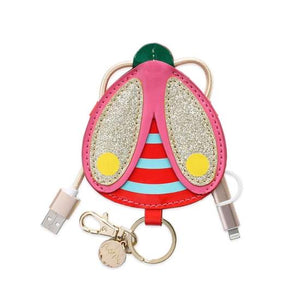 Packed party ladybug keychain charger