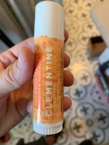 Clementine chapstick- honestly margo
