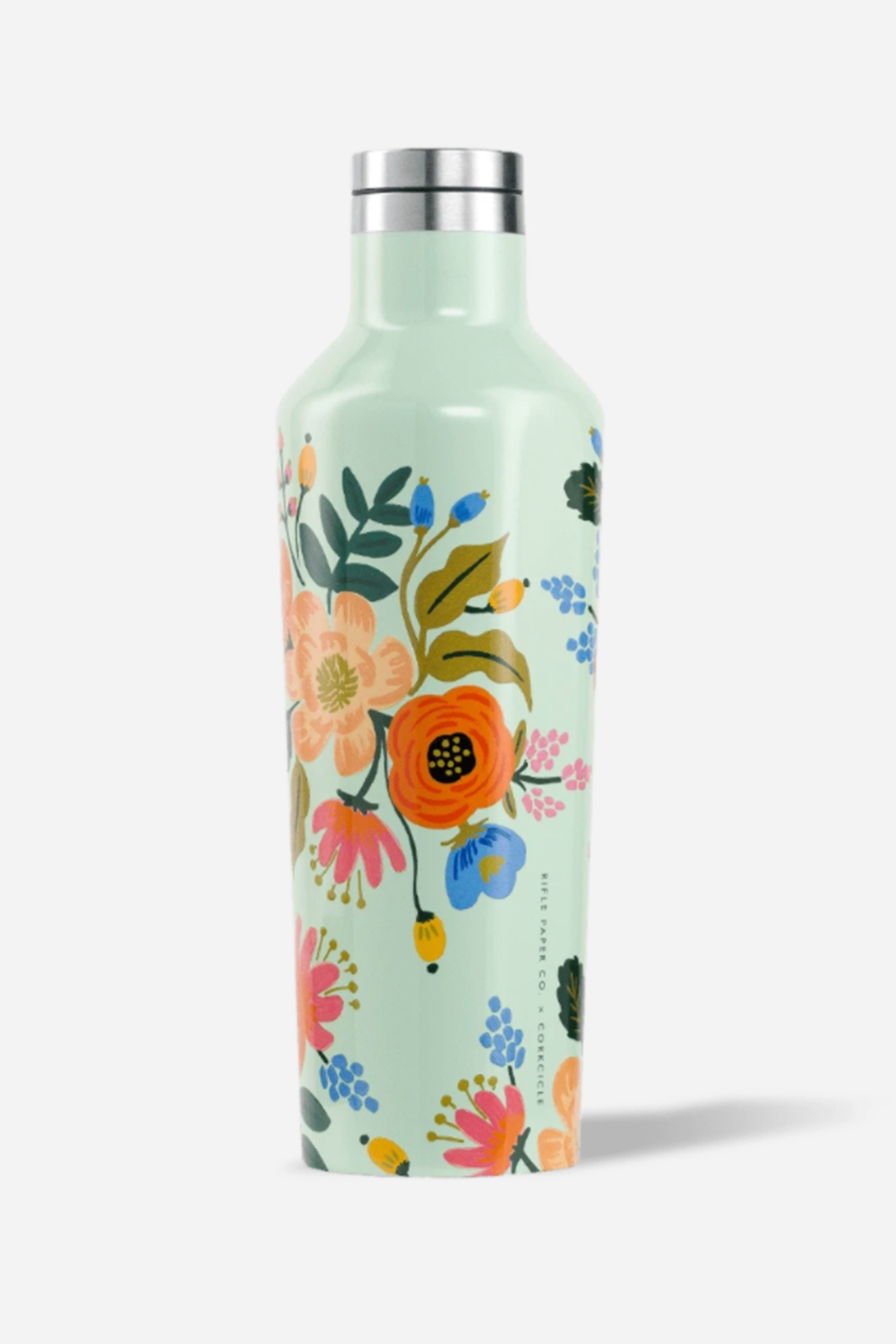 Corkcicle rifle mint floral 16 oz canteen
