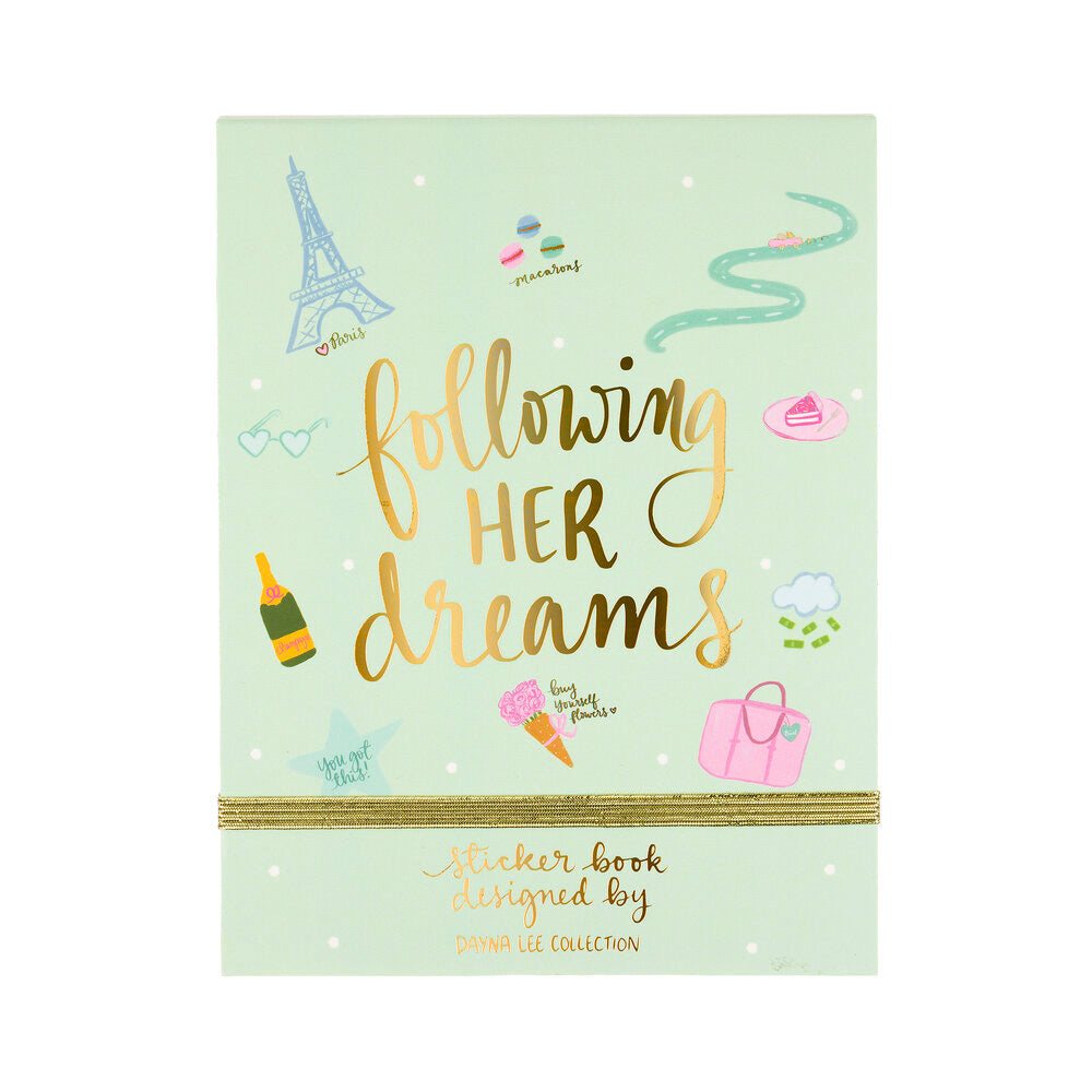Following her dreams sticker book
