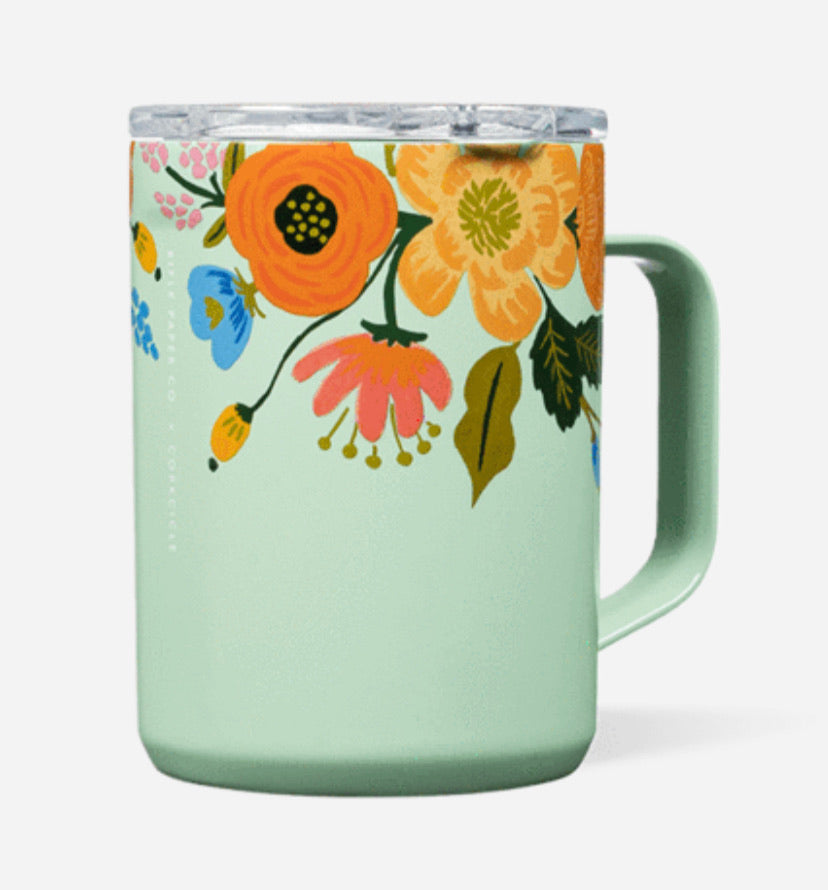 Corkcicle/rifle lively green gloss mug