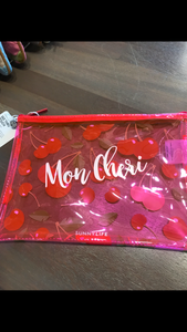 Cherry clear pouch