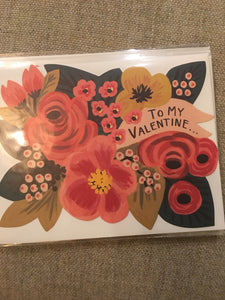To my valentine floral card
