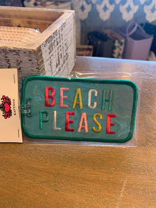 Beach please luggage tag