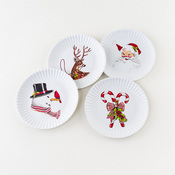 Christmas Melamine Hors D'oeuvres Plate set of 4
