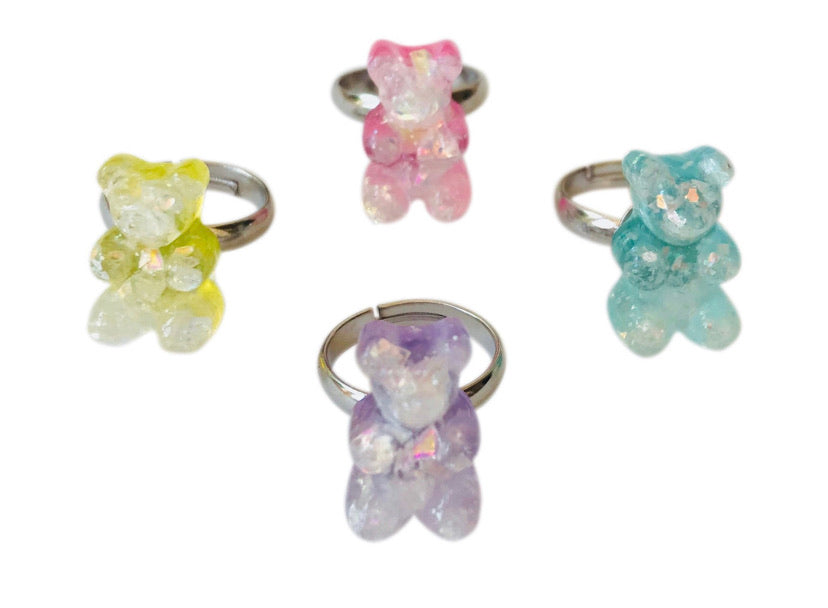 Pop cutie gummy bear ring- each
