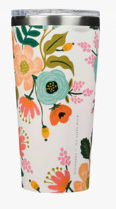 White rifle Corkcicle floral tumbler- 16oz