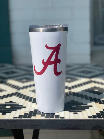 Alabama White Tumbler 24oz