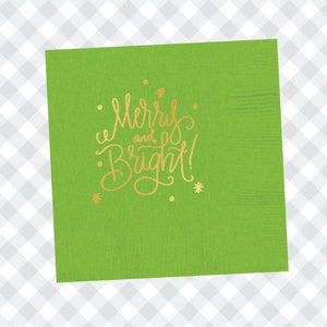 Merry and Bright beverage napkins
