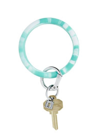 Rubber teal marble oventure keyring
