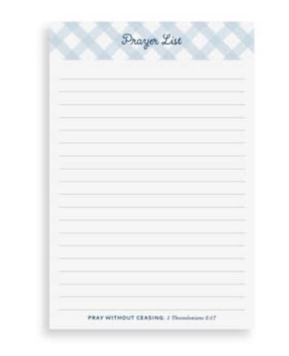 Prayer list pad