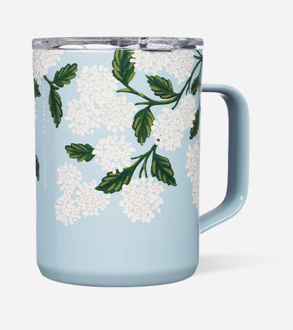 Blue hydrangea rifle/corckcicle mug