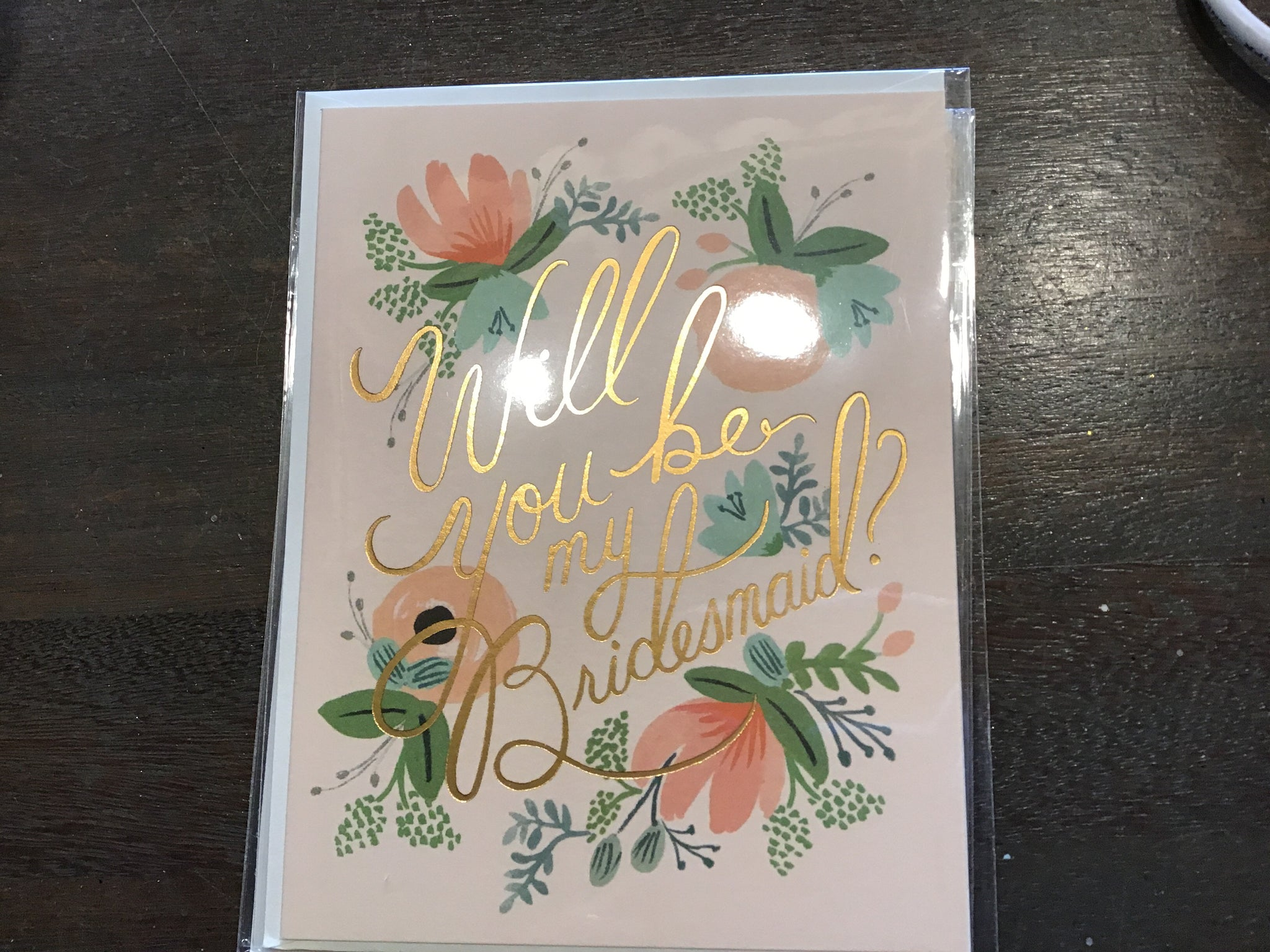 Rifle will you be my bridesmaid card