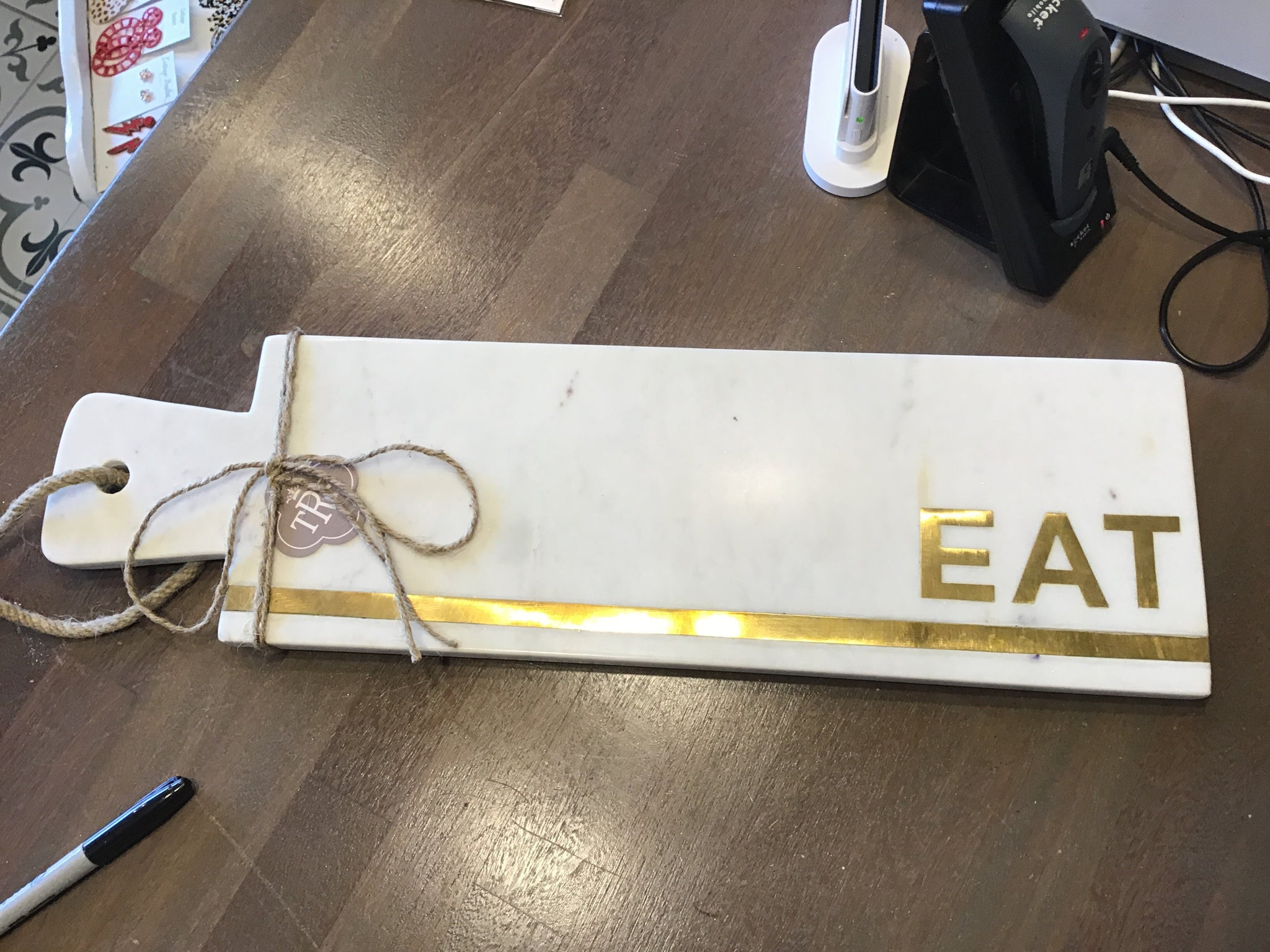 EAT marble serving board