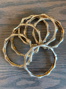 Bamboo gold bangle