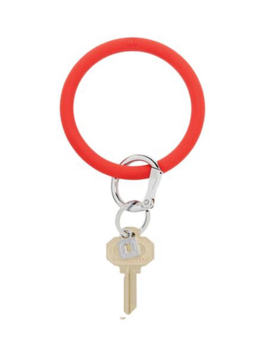 Rubber red oventure keyring